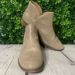 Splendid | Shimmery Taupe/Rose Booties